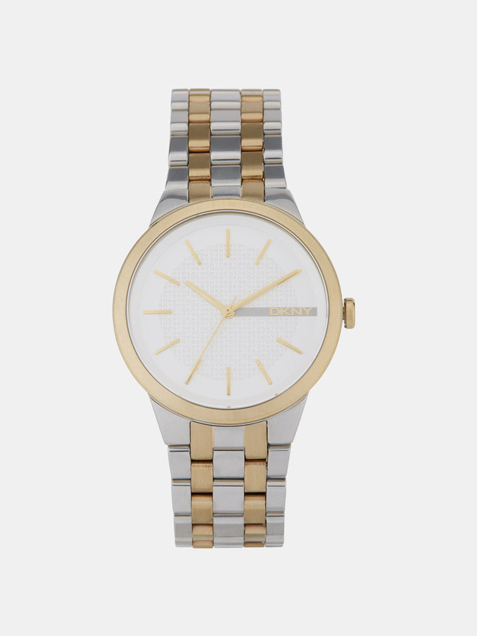 DKNY Park Slope Two-Tone 3 Hand Watch