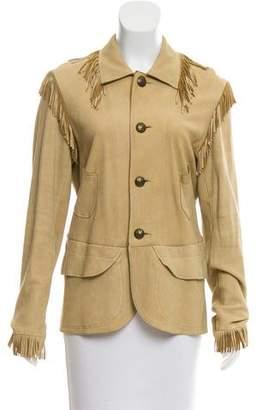Ralph Lauren Fringe-Trimmed Suede Jacket