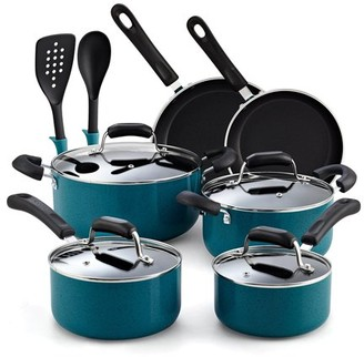 N. Cook Home 12-Piece Nonstick Stay Cool Handle Cookware Set