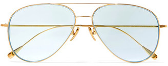 Cutler and Gross - Aviator-style Gold-tone Sunglasses $575 thestylecure.com