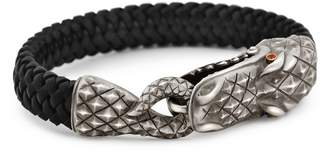 Rubie's Costume Co Snake Bones - Alligator Clasp Bracelet in Silver 18KT Gold and
