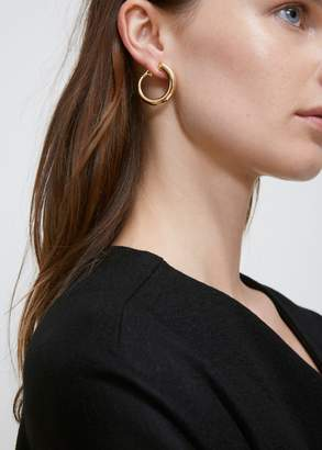 left normal single jewelry earrings lyst charlotte maple chesnais earring product yellow in vermeil