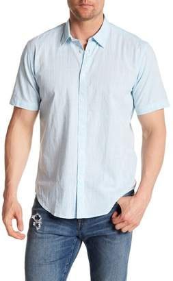 COASTAORO Captiva Plaid Woven Short Sleeve Slim Fit Shirt