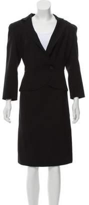 Armani Collezioni Semi-Structured Peplum Skirt Suit Black Semi-Structured Peplum Skirt Suit