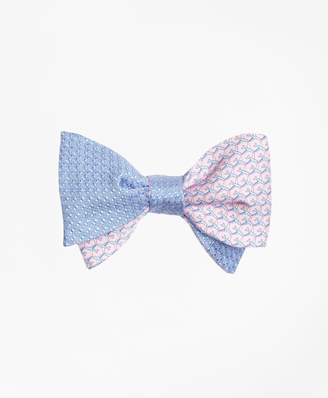 Brooks Brothers Micro-Dot with Airplane Motif Reversible Bow Tie