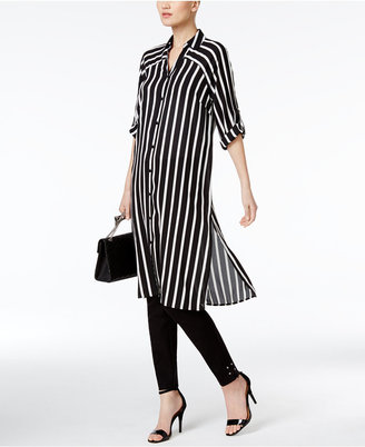 Alfani PRIMA Striped Tunic Shirt, Only at Macy's $79.50 thestylecure.com