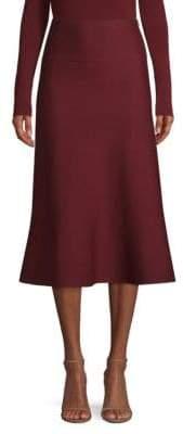 Agnona Fluted Merino Wool Skirt