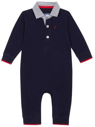 1fb1e8a17b6 at Debenhams · J by Jasper Conran Baby Boys  Navy Gingham Trim Romper Suit