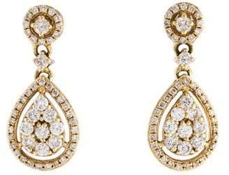 KC Designs 14K Diamond Drop Earrings
