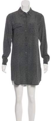 Equipment Printed Long Sleeve Mini Dress