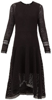See by Chloe Handkerchief Hem Crochet Dress - Womens - Black