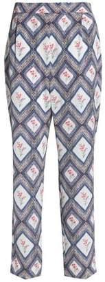 Emilia Wickstead Printed Georgette Tapered Pants