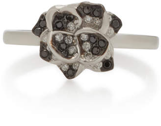 Black Diamond Colette Jewelry 18K White Gold and Ring