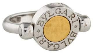 Bvlgari 18K Onyx Flip Ring