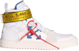 Off-White Off White White Leather Industrial High-top Sneakers