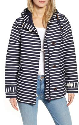 Joules Coast Print Waterproof Hooded Jacket