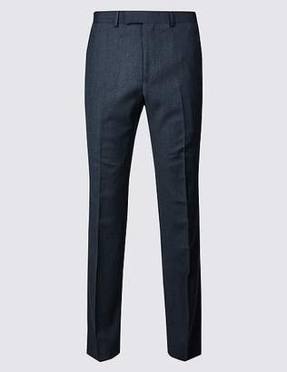 Marks and Spencer Textured Tailored Fit Wool Trousers