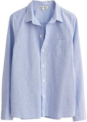Alex Mill Shrunken Fine Stripe Shirt in Blue