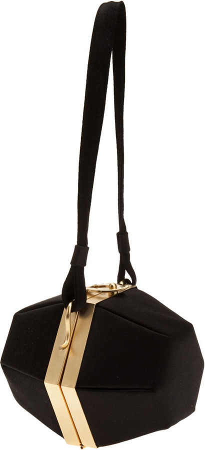 Barneys New York Hexagon Evening Bag - Black