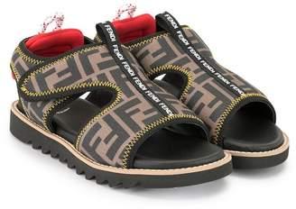 Fendi FF print sandals