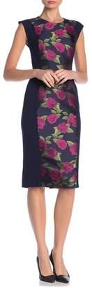 Rachel Roy Jacquard Screpe Scuba Sheath Dress