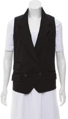 Dolce & Gabbana Wool-Blend Stand Collar Vest