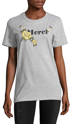 Missguided Merci Floral-Print Tee
