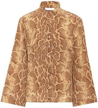 Chloé Python-printed silk shirt