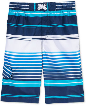 Kanu Surf Mixed-Stripe Swim Trunks, Big Boys (8-20) $30 thestylecure.com
