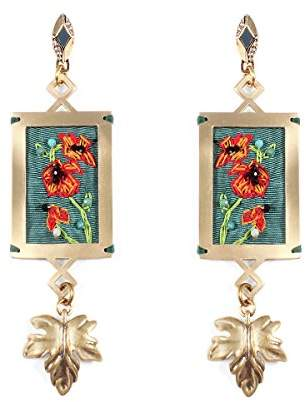 Lulu Frost Women Gold Plated Dangle and Drop Earrings E585-2