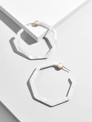BaubleBar Devri Resin Hoop Earrings