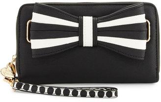 Betsey Johnson 1 2 3 Oversized Wallet, Black $55 thestylecure.com