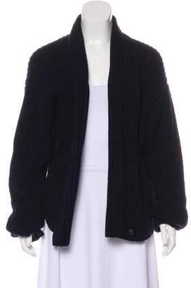 Les Prairies de Paris Wool Open Front Cardigan