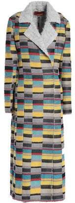 Missoni Metallic Crochet-Knit Coat