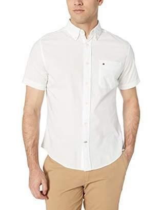 5e8a73c87d0af Tommy Hilfiger Men s Short Sleeve Button Down Shirt in Custom Fit