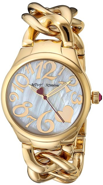Betsey JohnsonBetsey Johnson - BJ00297-12 - Gold Link Watches