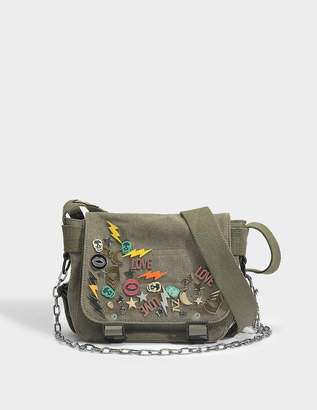 Zadig & Voltaire Readymade XS Shoulder Bag in Kaki Canvas