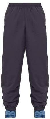Y/Project Denim Cuff Deconstructed Track Pants - Mens - Navy