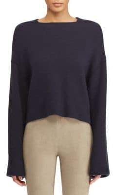 Ralph Lauren Women's Cashmere Cropped Sweater - Night Blue - Size Medium