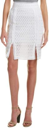 Moon River Slit Pencil Skirt