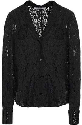 Robert Rodriguez Sequin-trimmed Cotton-blend Lace Shirt