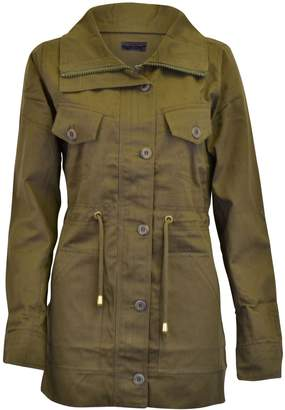 c05d212aa7b0 Noroze Womens Hooded Military Style Summer Coat Jacket (Khaki