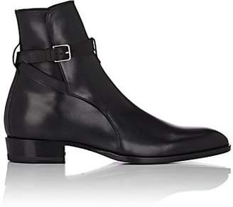 Saint Laurent Men's Wyatt Leather Jodhpur Boots - Black