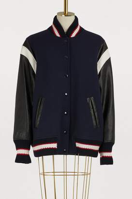 Stella McCartney Brielle wool bomber jacket