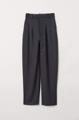 H&M Wide-cut Wool Pants - Blue
