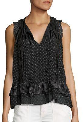 Joie Cici Polka Dot Silk Blouse $248 thestylecure.com