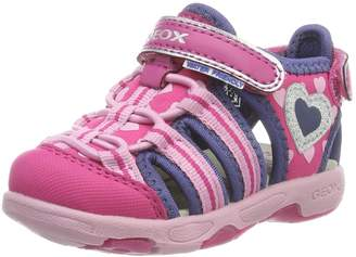 Geox Girl's B Sandal Multy Girl Athletic Sandals, Fuchsia/Navy