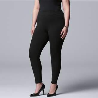 Vera Wang Plus Size Simply Vera Midrise Heavyweight Legging