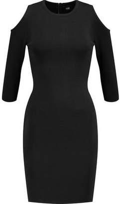 Line Clark Cold-Shoulder Stretch-Knit Mini Dress