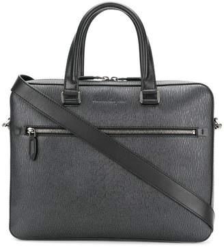 Salvatore Ferragamo textured laptop bag